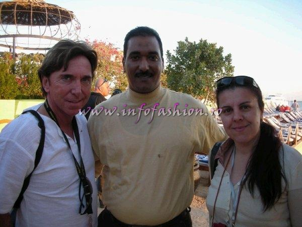 Detlef Tursies, CEO WBO Top Model of The World & Miss Intercontinental, Mohammed Abdallah, Manager of Elysees Dream Beach and Camelia Seceleanu, Manager Platinum Agency at Top Model of the World in Egypt, Hurghada. Final- 18 JAN 2008, Steigenberger AL DAU BEACH Hotel