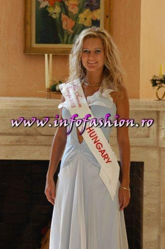 Photo shooting at Miss Tourism Europe-2003 la Hotel New Montana Romania-Prahova Valley-Sinaia