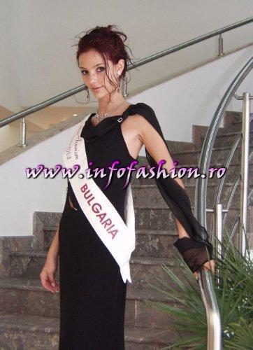 Bulgaria- Varna Pavlina Miteva (Platinum Award) at Miss Tourism Europe 2003 in Romania /Infofashion Platinum Ag.