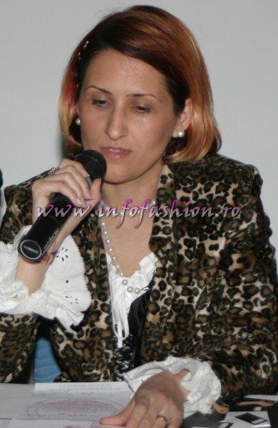 2005 Conferinta de presa Platinum Agency cu Institutul European de Design, Designeri romani, Presa si participanti la Model of the World Romania Liliana Turoiu Udrea , lector la Facultatea de Arte Decorative si Design Bucuresti, presedinte al Asociatiei de Moda si Design din Romania