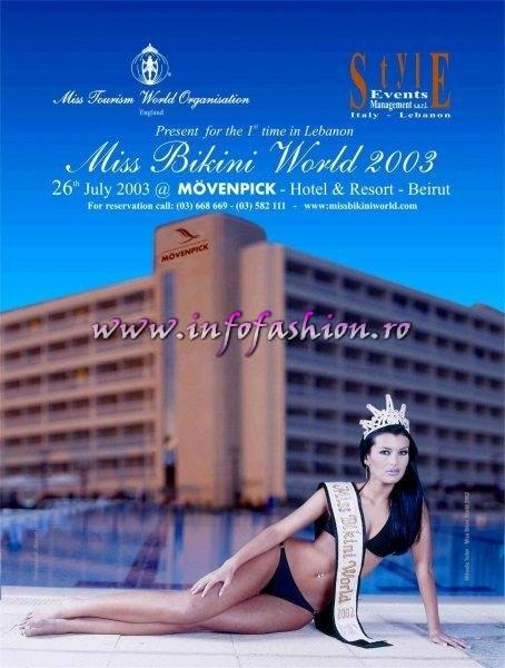 C_&_ Designeri Costume baie, Bikini Swimsuit Mihaela Tudor & Alina Andreea Cojocaru la Miss Bikini World International Final Infofashion Platinum Ag