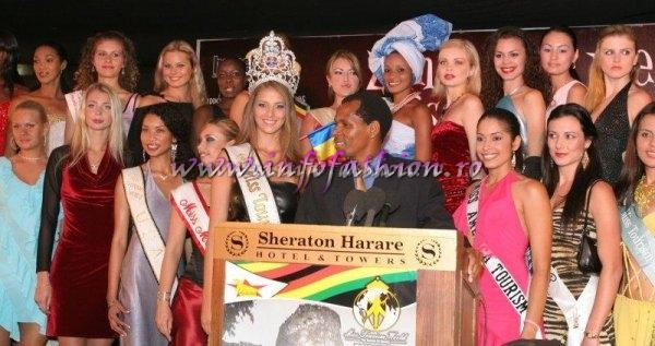 Zimbabwe_2005 Press Conference with Tourism Secretary, Francis Nhema, Officials & Contestants at Miss Tourism World