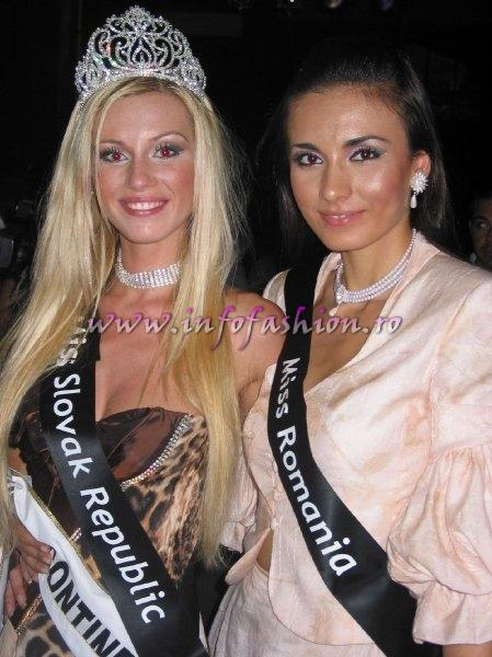 Roxana Curelea at Miss Intercontinental 2006 & Katarina Manova, Miss Intercontinental 2006 (Photo Oana Georgescu, Journalist)