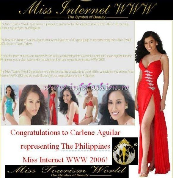MTW 2006 Miss Internet WWW will take place from the 22nd 27th NOV announce Miss Tourism World Organisation