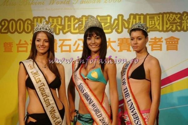 Alina Ciorogariu, Miss Tourism World 2003 in Venezuela, Cristiane Biazioli, Brazil, Miss Bikini World 2005, Catalina Iancu, Model of the Universe 2005