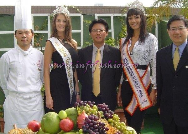 Alina Ciorogariu, Romania, Miss Tourism World 2003 (Venezuela), Taiwan Howard Plaza Chef & Cristiane Biazioli, Brazil, Miss Bikini World 2005 (Turkey)