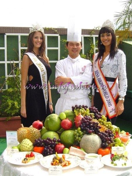 Alina Ciorogariu, Romania, Miss Tourism World 2003 (Venezuela), Taiwan Organisers of Miss Bikini World 2006 & Cristiane Biazioli, Brazil, Miss Bikini World 2005 (Turkey)