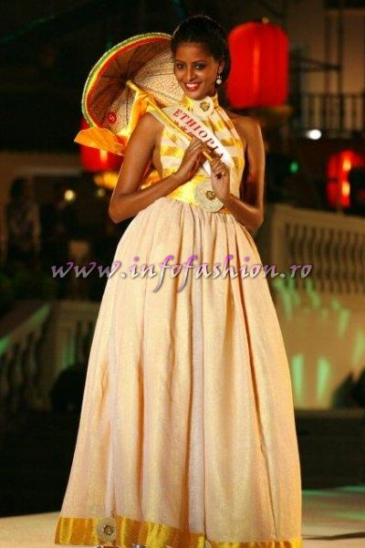 ETHIOPIA_2007 Mihret ABEBE at Miss World in Sanya, China