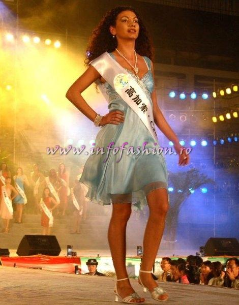 Armenia_2007 Caucasia Gajane Pogosjan at Top Model Of The World in China, Kunming, Yunnan (WBO)