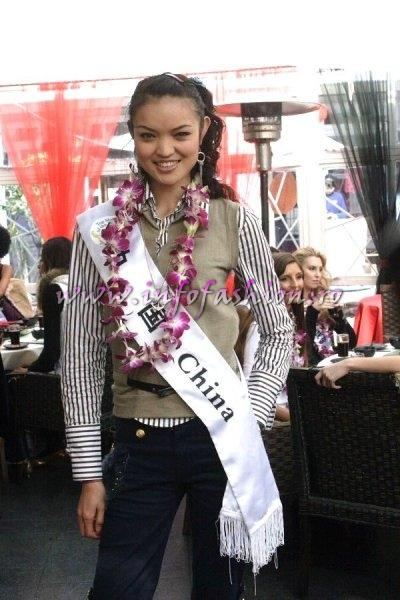 China_2007 Contestant at Top Model Of The World in China, Kunming, Yunnan