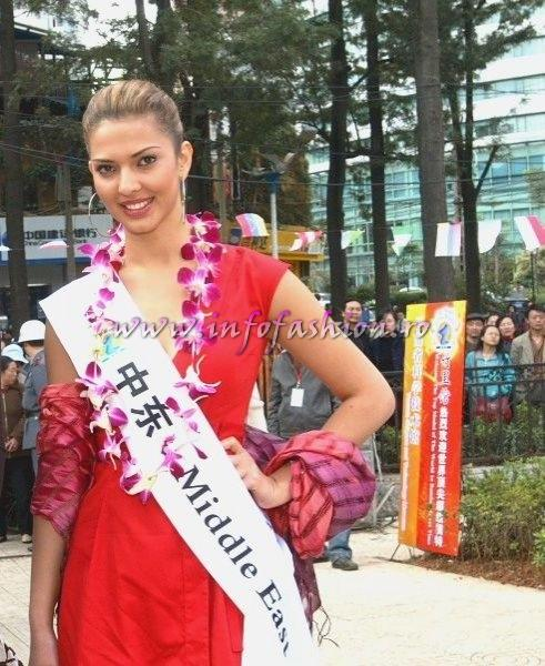 Kosovo_2007 Agnese Vuthaj at Top Model Of The World in China, Kunming, Yunnan (WBO)