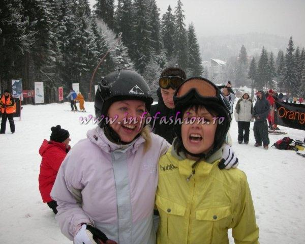 Inese Romantova si Elina Ose (Letonia) in Romania- Predeal WORLD CUP SKIBOARD 20-25 Feb. 2007