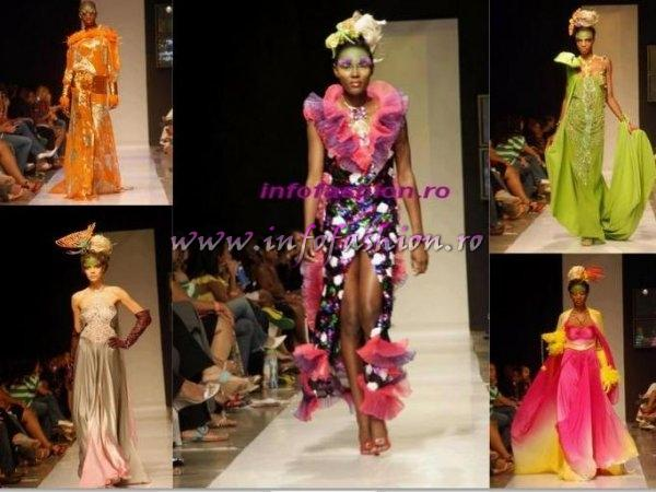 Designer Catalin Botezatu in Caribbean Fashion Week haute couture, 400 kg of accessories, photoshooting in Jamaica