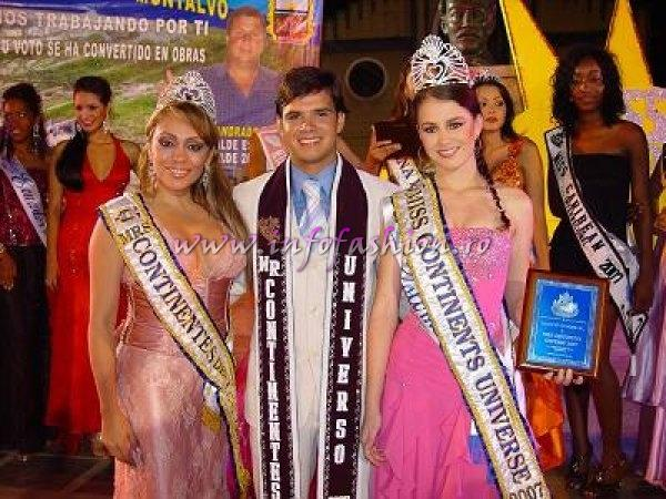 Ninoska Melara (Honduras) Mrs. Continentes of the Universe, Xavier Alvarez (Venezuela) Mr.Continentes of the Universe, and Johanna Chalarca (Colombia) Miss Continent of the Universe 2007