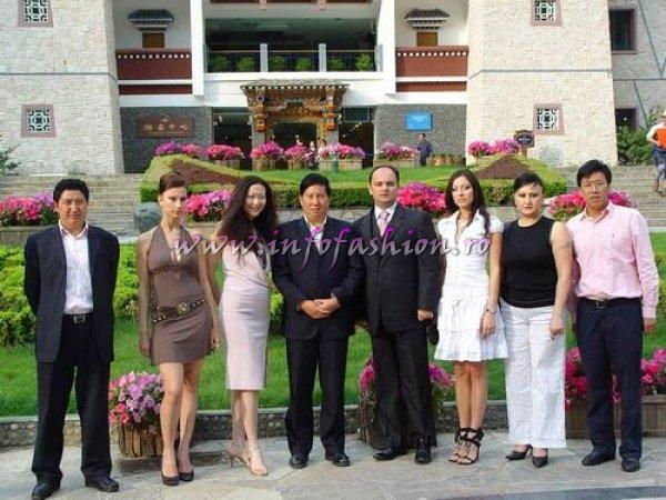 WBC board members Ms. Ma Yongmei, Zamir Huseynov, Beauty of Russia, officers of China Jiuzhai