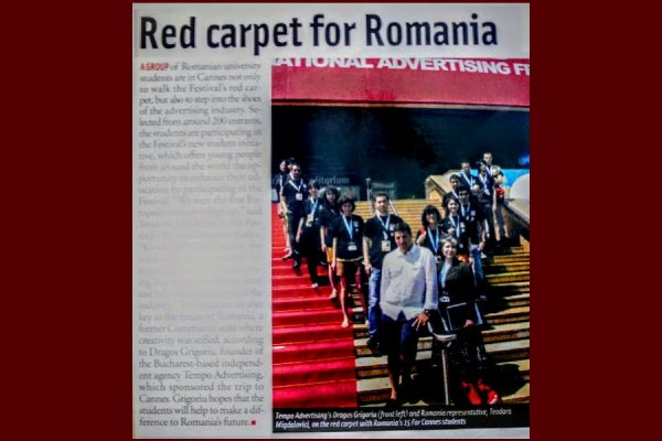 Red Carpet la Lions pentru Romania la Festivalul de Comunicare, Publicitate si Advertising de la Cannes 2007