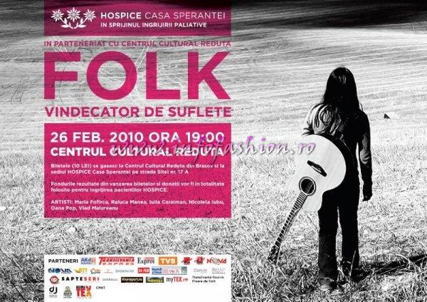 `Folk vindecator de suflete`, concert in beneficiul pacientilor de la Hospice