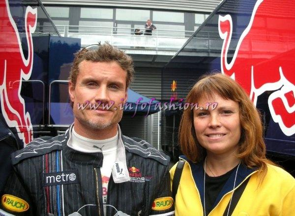 David Coulthard si Oana Georgescu la teste Spa Francocrchamps, Belgium