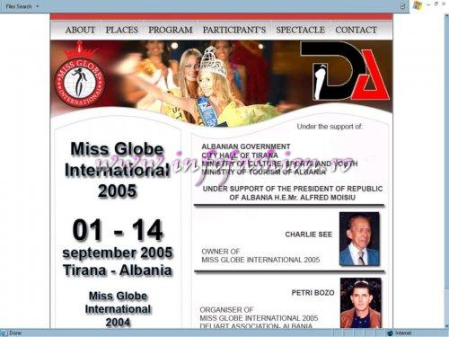 Miss Globe International Suport of Albanian Government