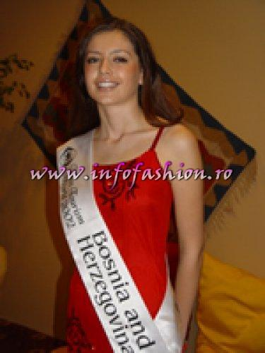 Bosnia and Herzegovina, Suzana Marjanovic, 1st Runner Up, at Model of The Universe in Turkey 2002