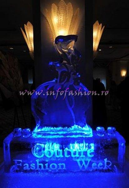 Custom Display by Ice Sculpture Designs at New York`s Couture Fashion Week