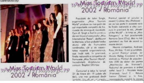 Revista Femeia Platinum 2002 Ag Infofashion 06 IUL. Miss Tourism World Romania
