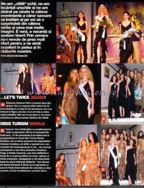Monitorul de Vrancea Platinum 2002 Ag Infofashion 06 IUL. Miss Tourism World Romania