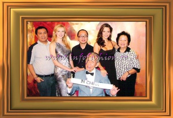 Alex Liu (left) the president of Miss Tourism Queen International Pageant, founded by Mr CHARLIE SEE (now 97 year old) since 1949