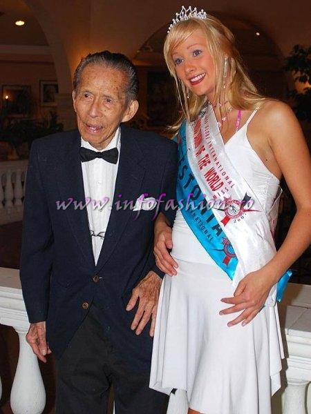 Charlee See, the founder and Estonia, Gerta Poldver, Miss Bikini Miss Globe International Albania 2007