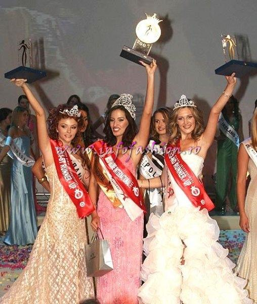Top 3, Winner brazil, 1st r.up-Albania, 2nd r.up-Greece Miss Globe International Albania 2007