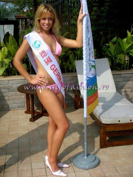 Germany Melanie Benz at Final Miss Young International in Taiwan OCT. 2007