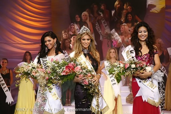 Miss Lebanon , Nancy Aflouny was crowned the new Miss Intercontinental 2007 in Seychelles. The two runners-up were Miss Korea , Han na Yoo and Miss Margarita Island , Emily Fernandez