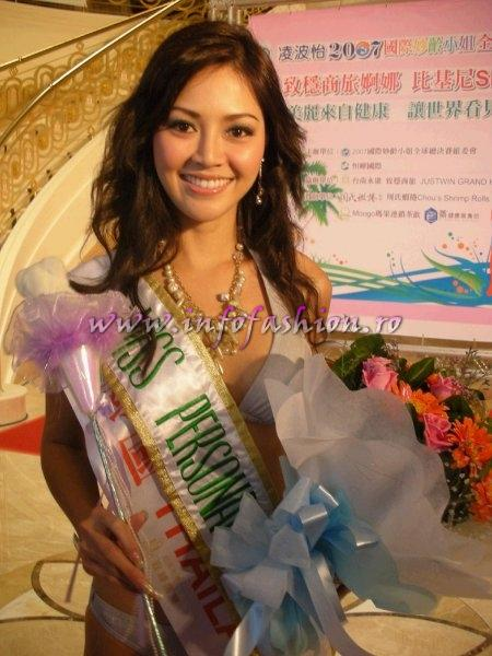 Thailand_Vasana Wongbuntree in Taiwan Miss Young International Miss Personality voted by the guests