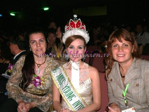 Camelia Seceleanu, Estefany Sallgado Tomaselly - Miss Young International 2006 si Oana Georgescu