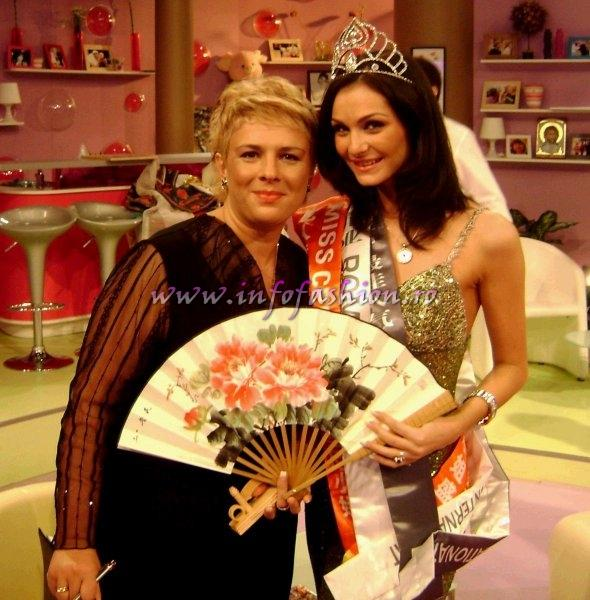 Romina_Dragoi in emisiune TV Teo Trandafir, Miss Celebrity & Miss Popularity la Miss Bikini Intl 2007 org. InfoFashion.RO