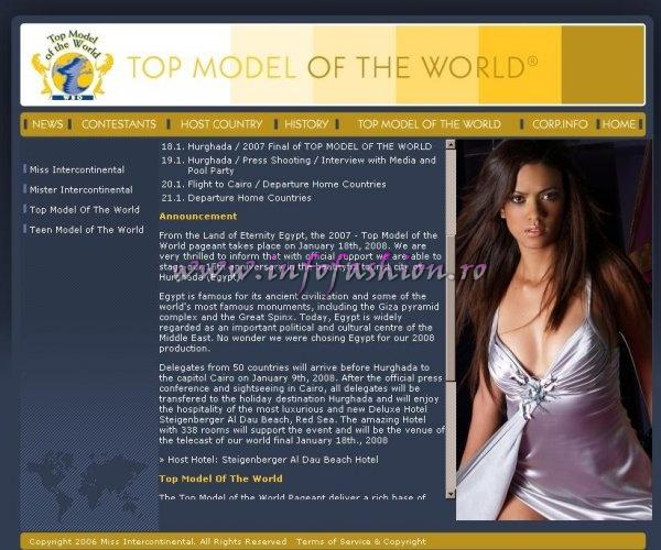 2008 Top Model Of The World (WBO) In Egypt, Hurghada. Final- 18 JAN 2008, Steigenberger AL DAU BEACH Hotel