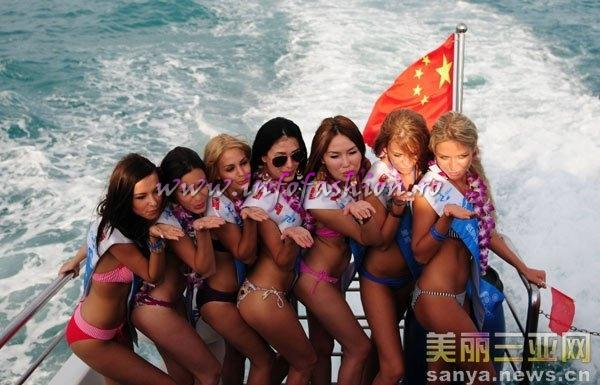 Moldova Rep- Monica Burca at 35th Miss Bikini International In Sanya 2010