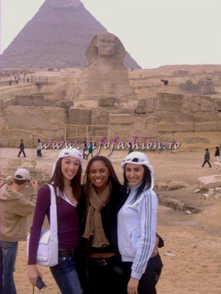 Laurette Atindehou in Egypt the Pyramids of Gizeh and the Sphinx