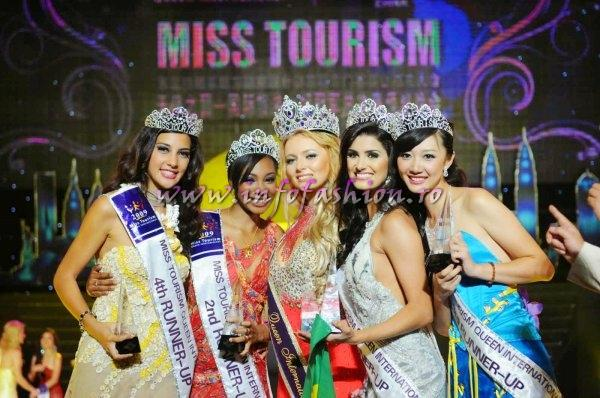 Miss Tourism Queen International 2009 Winner RUSSIA- Ekaterina Grushanina, 1ST Rup BRAZIL- Vivian Noronha, 2ND Rup GUINEA Rep- Safia Souare, 3RD Rup CHINA- Shen Yu Jie, 4TH Rup FRENCH POLYNESIA (Tahiti)- Ina Amanda Pater