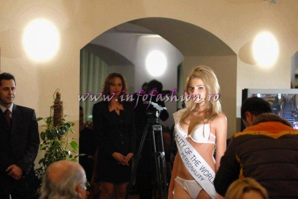 Ina Radu, Piatra Neamt, Miss Personality la BEAUTY OF THE WORLD China, august-septembrie 2007