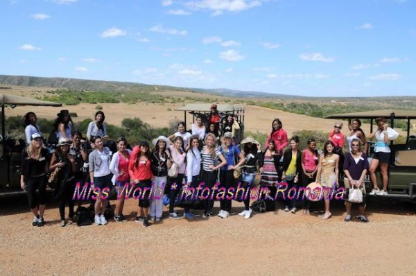 20MW ACTUAL NEWS Miss World 2009 Safari Eastern Cape of South Africa where the Miss World Sports Final will be held 2009