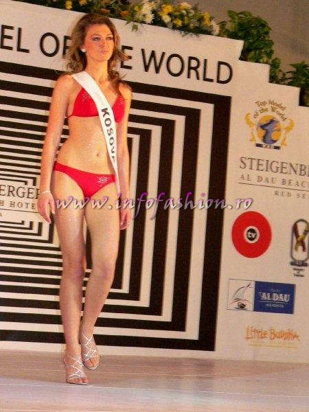 Kosovo- Yllka Berisha at Top Model of the World 2007 Egypt, Steigenberger Al Dau Beach Hotel (18 JAN. 2008)