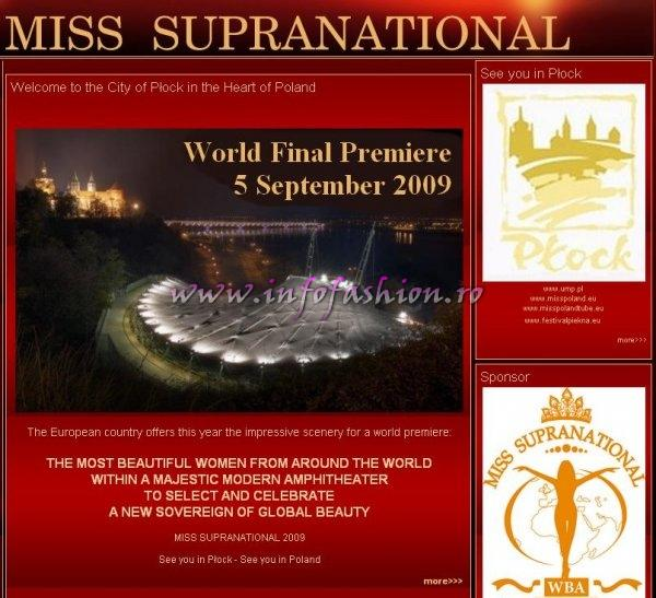 Poland Miss Supranational 2009 WBA`s Global Gala organized by Mr. Gerhard Parzutka von Lipinski, Europe CEO and Mrs. Marcela Yandar Lobon, President of World Beauty Association