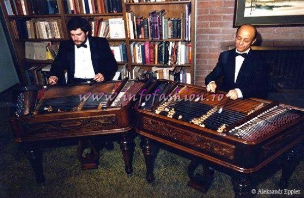Aleksandr Eppler rehearsing before a concert with his partner, the Romanian cimbalom, virtuoso Toni Iordache in 1985 www.bulgariankaval.com