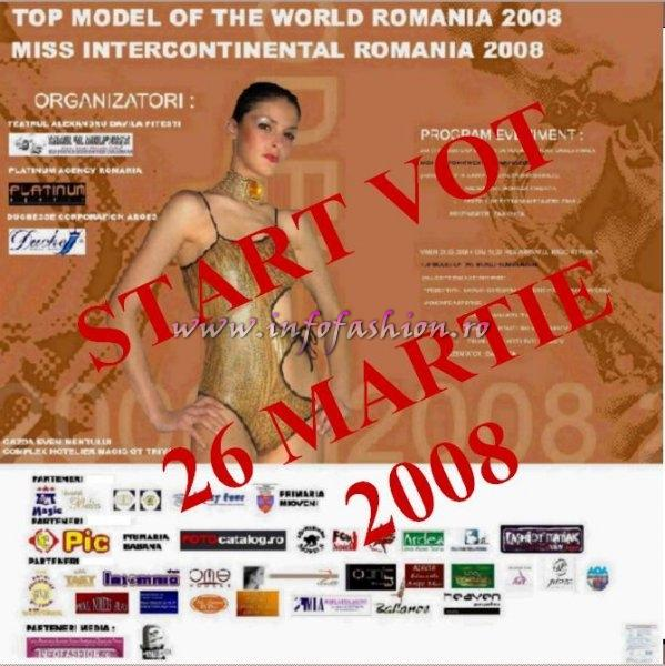 Platinum Agency Infofashion si Duchesse Corporation va invita la Top Model of The World si Miss Intercontinental Romania (WBO) la Pitesti 24-30 Martie 2008