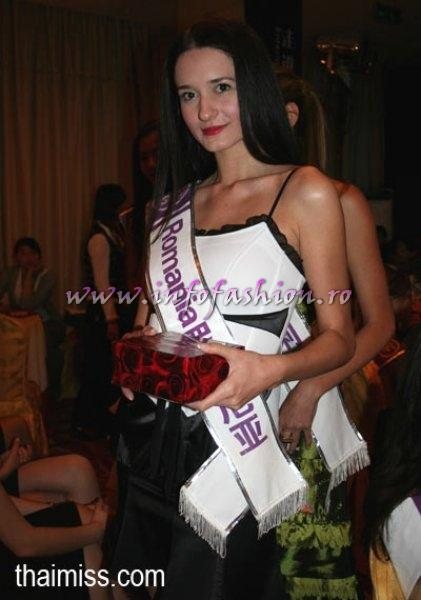 2008 Miss Tourism Queen International in CHINA- Delia Duca, 1st place at Romanian Chess Solving Championship in 2006, representing Romania 20 March-12 April