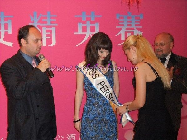 Eva Neagoe, designer si Miss Personality la International Beauty & Model Festival 2009 in China (25.04 -10.05. 2009)