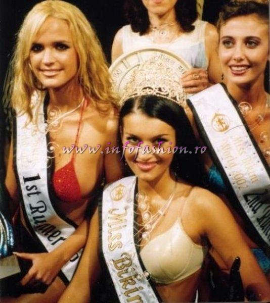 Linda Zimany, Hungary, Balaton (1st runner up), Mihaela Tudor (Bucharest) - Winner and Nikki Farrugia, Malta (2nd runner up Miss Bikini World in Malta 2002