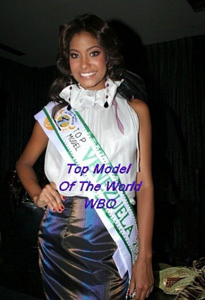 Venezuela_2010 Gabriela Conception, 1st runner-up, Best Hair and Skin Award at Top Model Of The World WBO in Germany