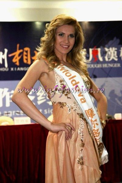 Moldova Rep., Maria Bujor, Miss Elegance at China 2008 Miss Leisure (rochie Oans by Oana Savescu)